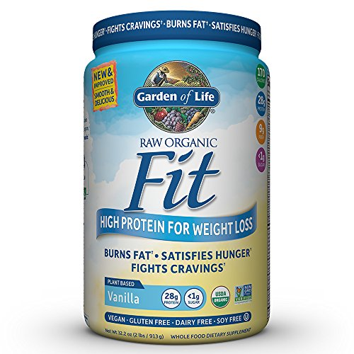 Garden of Life Organic Meal Replacement - Raw Organic Fit Vegan Nutritional Shake for Weight Loss, Vanilla, 32.2oz (2lbs/913g) Powder