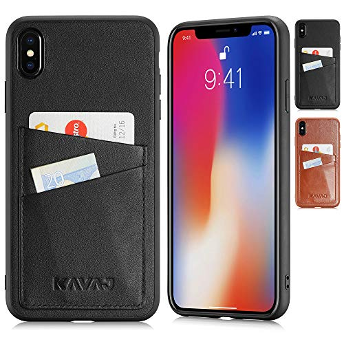 Case Leather Tokyo Black, Supports Wireless Charging