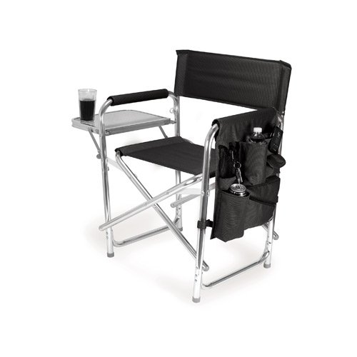 IMPRINTED Personalized Sports Directors Chair with Side Table - Black