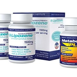Lipozene Weight Loss Pills 2x30 Count Bottles with 30 count MetaboUp Plus