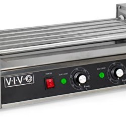 VIVO Electric 12 Hot Dog & Five (5) Roller Grill Cooker