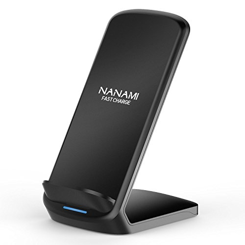 NANAMI 7.5W Fast Wireless Charger for iPhone X/XS/ XR/XS Max/8/8 Plus and 10W Fast Charger for Samsung Galaxy S9 /S9+ /Note 9 /Note 8 /S8 /S8+ /S7 /S7 Edge/S6 Edge+ Upgraded QI Wireless Charging Stand