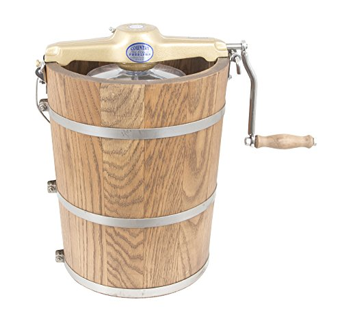 6 qt Country Ice Cream Maker - Classic Wooden Tub
