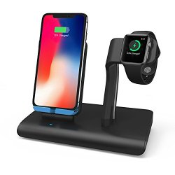 Charger Stand For Apple Watch Wireless Charging Dock For iPhone X