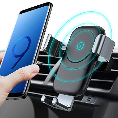 Auto-Clamping Fast Charger Car Air Vent Cell Phone Holder