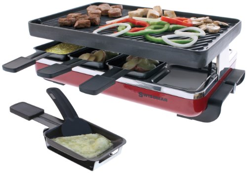 Swissmar Classic 8 Person Raclette with Reversible Cast