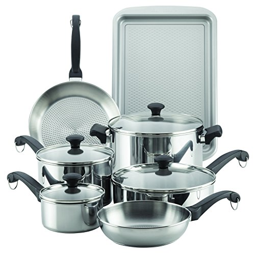 Farberware Classic Traditions Stainless Steel Cookware Set, 12-Piece
