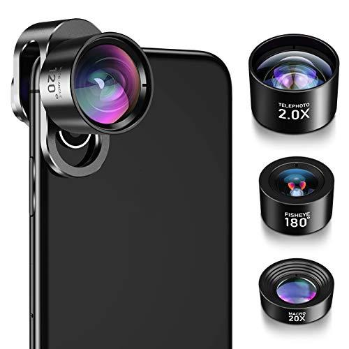 iPhone Camera Lens, Jopree 4 in 1 iPhone Lens Kit, 20X Macro Lens