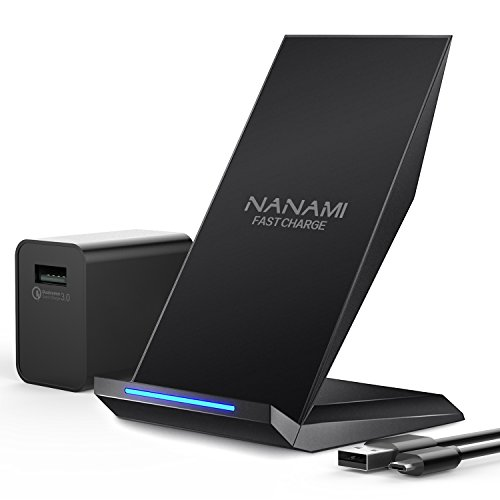 Fast Wireless Charger, NANAMI Qi Certified Wireless Charging Stand