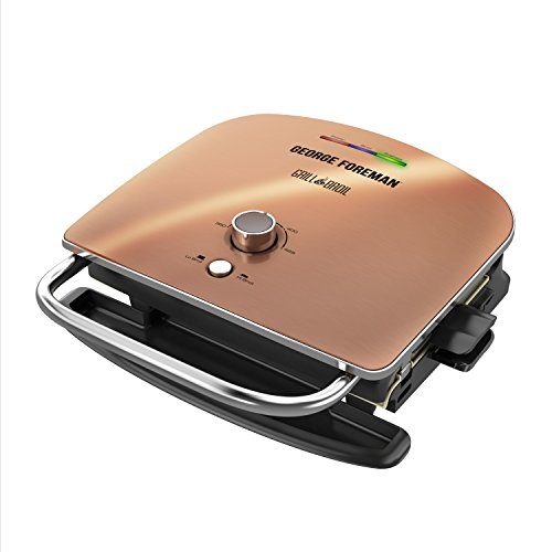 George Foreman Grill & Broil, 6-in-1 Electric Indoor Grill