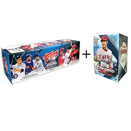 Topps 2018 Complete Set Retail Plus A 2018 Chrome Baseball Mass Value Box