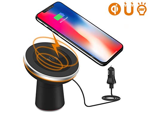 Wireless Car Charger, Dgtal 2 in 1 Magnetic Vehicle Mount Phone Holder Air Vent