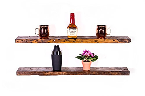 "DAKODA LOVE 5.25"" Deep Rugged Distressed Floating Shelves"