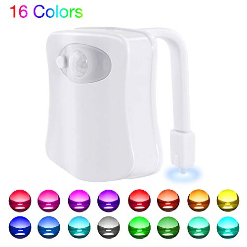 WEBSUN Toilet Night Light Motion Activated 16 Color Changing