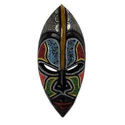 NOVICA Zulu' African Wood mask