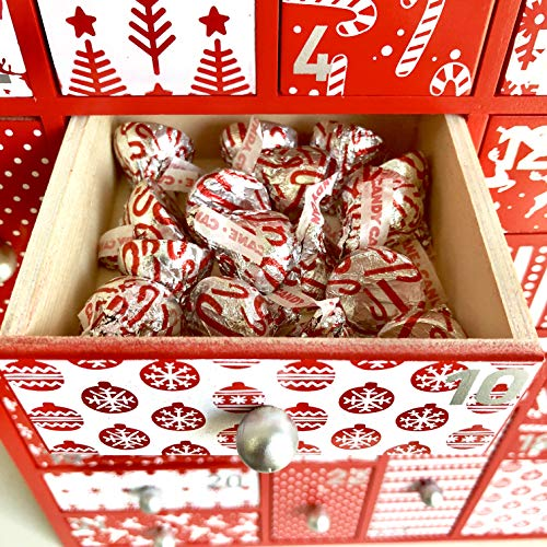 Wooden Advent Calendar With Drawers Large Christmas