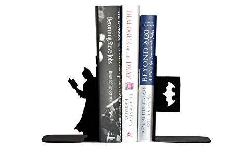 HeavenlyKraft Batman Book Reading Decorative Metal Bookend