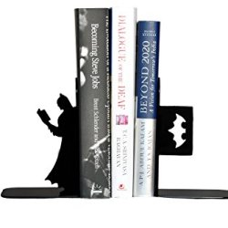 HeavenlyKraft Batman Book Reading Decorative Metal Bookend
