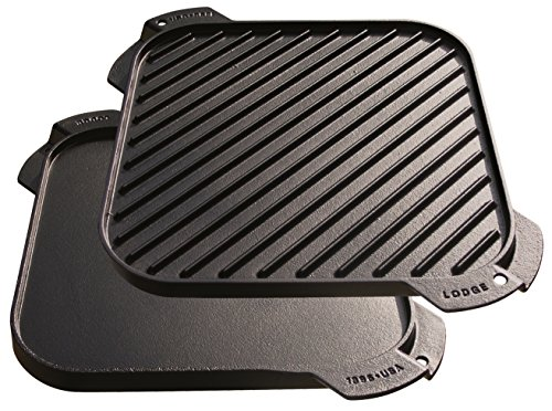 Lodge Cast Iron Single-Burner Reversible Grill/Griddle