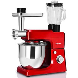 Costway Tilt-Head Stand Mixer 3 in 1 800W