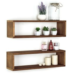 MyGift Natural Wood Finish Wood Wall Mounted