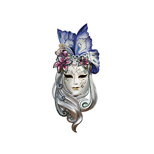 Design Toscano Butterfly Wings Masks of Venice Wall Sculpture