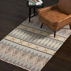 Rivet Southwestern Geometric Wool Rug, 4' x 6'