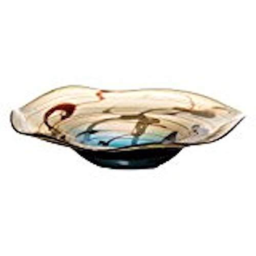 OK Lighting 3.0 Inch RNUM-Inch Glass Decorative Fruit Bowl