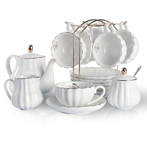 Porcelain Tea Sets British Royal Series, 8 OZ Cups& Saucer