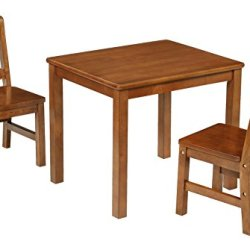 Kids Table and 2 X Back Chairs Set Solid Hard Wood