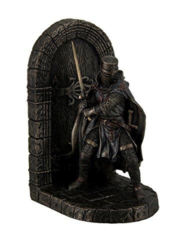 Resin Decorative Bookends Maltese Crusader In Armor