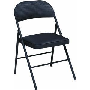 Cosco Fabric Seat & Back Folding Chair Black Steel Frame