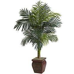 Nearly Natural Cane Palm with Decorative Container