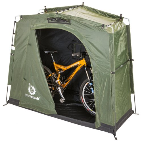The YardStash III: Space Saving Outdoor Bike Storage