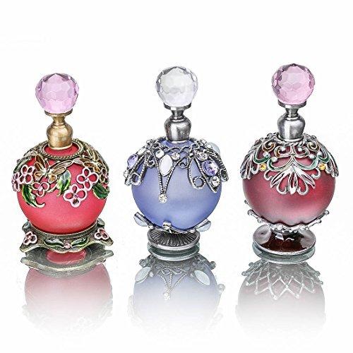 YUFENG 3/set Perfume Bottles Fancy Vintage Antique