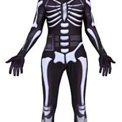 Riekinc Skull Trooper Zentai Halloween Cosplay Costume Kids Size