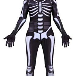 Riekinc Skull Trooper Zentai Halloween Cosplay Costume Kids Size
