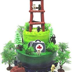 Battle Crusade Survival Royale Gaming Themed Cake