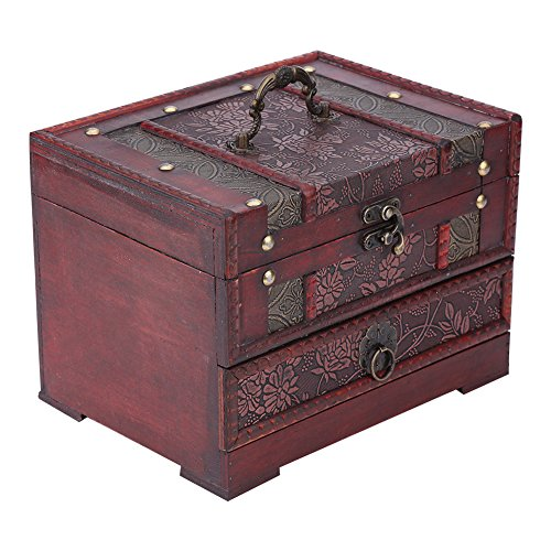 Brino Jewelry Chest, 1pc Classical Wooden Jewelery Gift