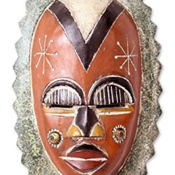 NOVICA Decorative Ghanaian African Rubber Wood