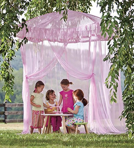 Sparkling Lights Hanging Bed Canopy Play Tent