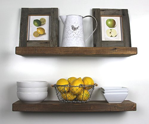 SOLID RUSTICS Handmade Rustic Wood Floating Wall Shelves