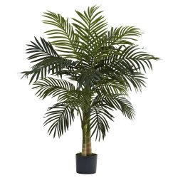 Nearly Natural Golden Cane Palm Tree, 4-Feet, Green