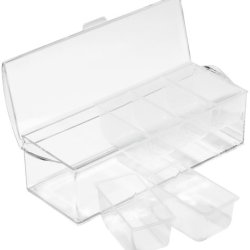 Prodyne AB-6 On-Ice Condiment, 1-Pack, Clear