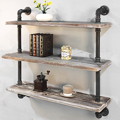 Industrial Pipe Shelf Bookcase Shelf Shelves