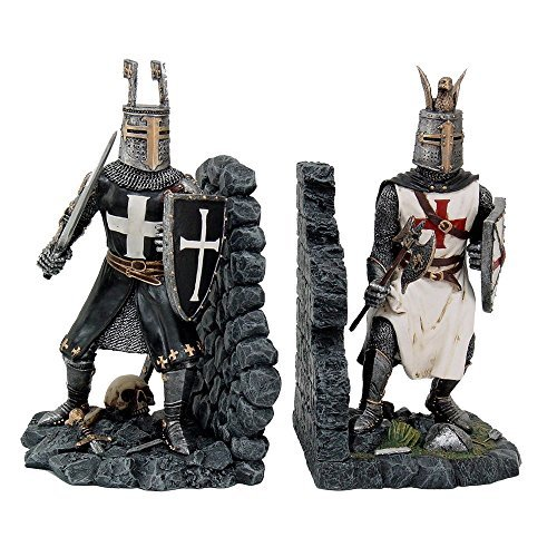 Decorative Crusader Knights in Full Armor Bookends Set