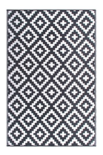 FH Home Indoor/Outdoor Recycled Plastic Floor Mat/Rug