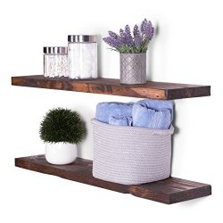 "DAKODA LOVE 8"" Deep Rugged Distressed Floating Shelves"