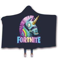 SimonaDnch Fortnite Llama Unicorn Horse Hooded Blanket