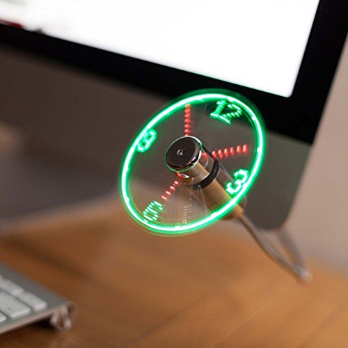 JUBLUN Flexible Clock Fan USB LED Display Fan